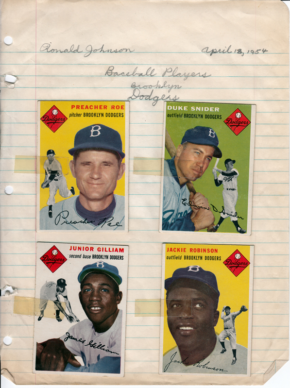 1954 Brooklyn Dodgers Topps Baseball cards