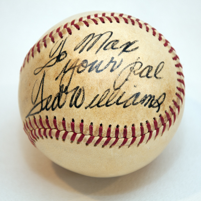 Ted Williams Autograph Baseball